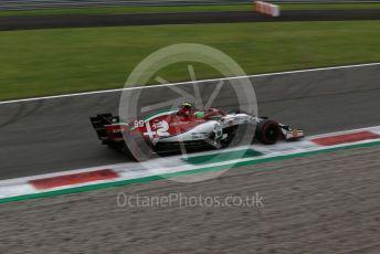 World © Octane Photographic Ltd. Formula 1 – Italian GP - Practice 2. Alfa Romeo Racing C38 – Antonio Giovinazzi. Autodromo Nazionale Monza, Monza, Italy. Friday 6th September 2019.