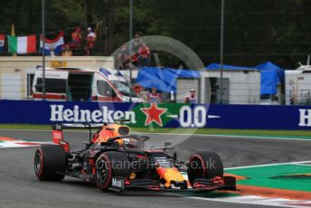 World © Octane Photographic Ltd. Formula 1 – Italian GP - Practice 2. Aston Martin Red Bull Racing RB15 – Max Verstappen. Autodromo Nazionale Monza, Monza, Italy. Friday 6th September 2019.