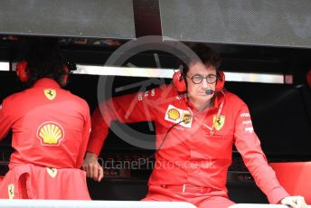 World © Octane Photographic Ltd. Formula 1 - Italian GP - Paddock. Mattia Binotto – Team Principal of Scuderia Ferrari. Autodromo Nazionale Monza, Monza, Italy. Saturday 7th September 2019.
