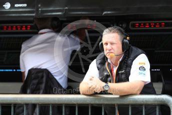 World © Octane Photographic Ltd. Formula 1 - Italian GP - Practice 3. Zak Brown - Executive Director of McLaren Technology Group.  Autodromo Nazionale Monza, Monza, Italy. Saturday 7th September 2019.
