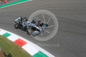 World © Octane Photographic Ltd. Formula 1 – Italian GP - Qualifying. Mercedes AMG Petronas Motorsport AMG F1 W10 EQ Power+ - Valtteri Bottas. Autodromo Nazionale Monza, Monza, Italy. Saturday 7th September 2019.