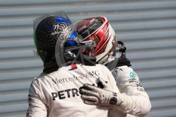 World © Octane Photographic Ltd. Formula 1 – Italian GP - Race. Mercedes AMG Petronas Motorsport AMG F1 W10 EQ Power+ - Valtteri Bottas and Lewis Hamilton. Autodromo Nazionale Monza, Monza, Italy. Sunday 8th September 2019.