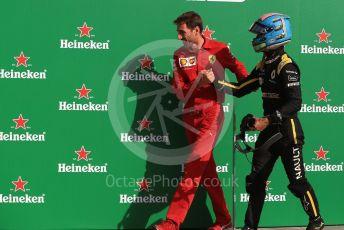 World © Octane Photographic Ltd. Formula 1 – Italian GP - Race Podium. Renault Sport F1 Team RS19 – Daniel Ricciardo. Autodromo Nazionale Monza, Monza, Italy. Sunday 8th September 2019.