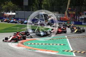 World © Octane Photographic Ltd. Formula 1 – Italian GP - Race. Scuderia Ferrari SF90 – Charles Leclerc. Autodromo Nazionale Monza, Monza, Italy. Sunday 8th September 2019.