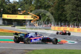 World © Octane Photographic Ltd. Formula 1 – Italian GP - Race. Scuderia Toro Rosso STR14 – Daniil Kvyat. Autodromo Nazionale Monza, Monza, Italy. Sunday 8th September 2019.