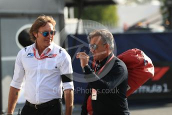 World © Octane Photographic Ltd. Formula 1 - Italian GP - Paddock. Jean Alesi. Autodromo Nazionale Monza, Monza, Italy. Saturday 7th September 2019.