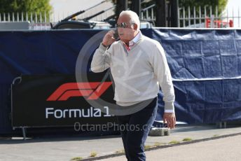 World © Octane Photographic Ltd. Formula 1 - Italian GP - Paddock. Lance Stroll father Lawrence Stroll - investor, part-owner of SportPesa Racing Point. Autodromo Nazionale Monza, Monza, Italy. Saturday 7th September 2019.