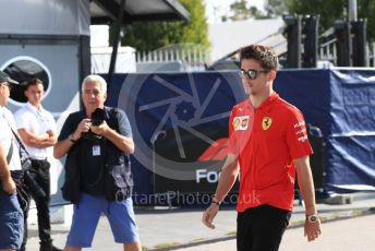 World © Octane Photographic Ltd. Formula 1 – Italian GP - Paddock. Scuderia Ferrari SF90 – Charles Leclerc. Autodromo Nazionale Monza, Monza, Italy. Saturday 7th September 2019.