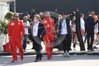 World © Octane Photographic Ltd. Formula 1 - Italian GP - Paddock. Louis Camilleri - CEO of Ferrari and former Chairman of Philip Morris International. Autodromo Nazionale Monza, Monza, Italy. Saturday 7th September 2019.