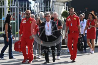 World © Octane Photographic Ltd. Formula 1 - Italian GP - Paddock. Louis Camilleri - CEO of Ferrari and former Chairman of Philip Morris International. Autodromo Nazionale Monza, Monza, Italy. Saturday 7th September 2019.