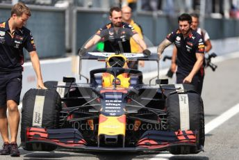 World © Octane Photographic Ltd. Formula 1 – Italian GP - Pit lane. Aston Martin Red Bull Racing RB15. Autodromo Nazionale Monza, Monza, Italy. Thursday 4th September 2019.