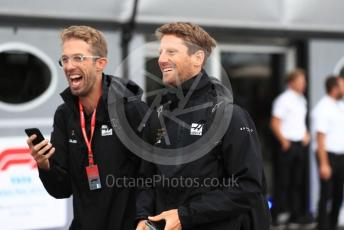 World © Octane Photographic Ltd. Formula 1 – Italian GP - Paddock. Rich Energy Haas F1 Team VF19 – Romain Grosjean. Autodromo Nazionale Monza, Monza, Italy. Friday 6th September 2019.