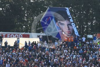 World © Octane Photographic Ltd. Formula 1 – Japanese GP - Grid. Fans in the grandstand with Pierre Gasly artwork. Suzuka Circuit, Suzuka, Japan. Sunday 13th October 2019.