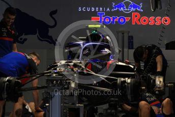 World © Octane Photographic Ltd. Formula 1 – Japanese GP - Evening teardown and Typhoon Hagibis preparations. Scuderia Toro Rosso. Suzuka Circuit, Suzuka, Japan. Friday 11th October 2019.