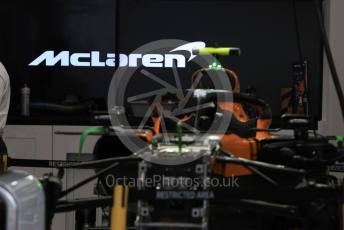 World © Octane Photographic Ltd. Formula 1 – Japanese GP - Evening teardown and Typhoon Hagibis preparations. McLaren. Suzuka Circuit, Suzuka, Japan. Friday 11th October 2019.
