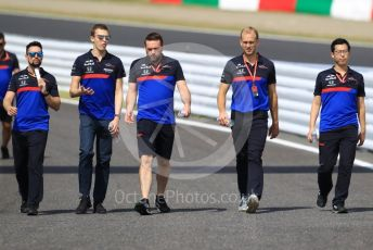 World © Octane Photographic Ltd. Formula 1 – Japanese GP - Paddock. Scuderia Toro Rosso STR14 – Daniil Kvyat. Suzuka Circuit, Suzuka, Japan. Thursday 10th October 2019.