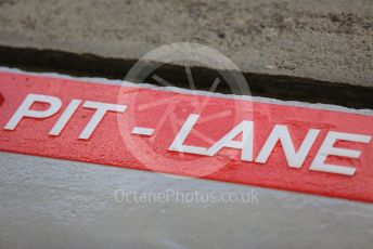 World © Octane Photographic Ltd. Formula 1 – Japanese GP - Paddock. Pit-Lane markings repainted. Suzuka Circuit, Suzuka, Japan. Thursday 10th October 2019.