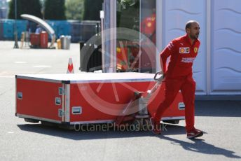 World © Octane Photographic Ltd. Formula 1 – Japanese GP - Paddock. Ferrari new parts delivery. Suzuka Circuit, Suzuka, Japan. Thursday 10th October 2019.
