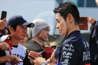 World © Octane Photographic Ltd. Formula 1 – Japanese GP - Paddock. Scuderia Toro Rosso - Naoki Yamamoto. Suzuka Circuit, Suzuka, Japan. Thursday 10th October 2019.