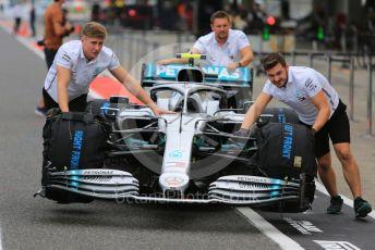 World © Octane Photographic Ltd. Formula 1 – Japanese GP - Parc Ferme. Mercedes AMG Petronas Motorsport AMG F1 W10 EQ Power+ - Valtteri Bottas. Suzuka Circuit, Suzuka, Japan. Thursday 10th October 2019.