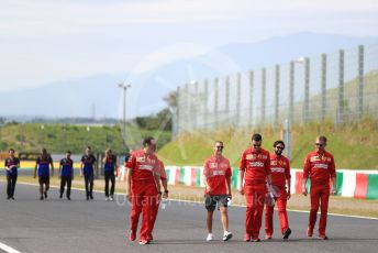 World © Octane Photographic Ltd. Formula 1 – Japanese GP - Paddock. Scuderia Ferrari SF90 – Sebastian Vettel. Suzuka Circuit, Suzuka, Japan. Thursday 10th October 2019.