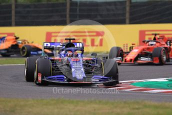 World © Octane Photographic Ltd. Formula 1 – Japanese GP - Practice 1. Scuderia Toro Rosso STR14 – Daniil Kvyat and McLaren MCL34 – Lando Norris, Scuderia Ferrari SF90 – Sebastian Vettel. Suzuka Circuit, Suzuka, Japan. Friday 11th October 2019.