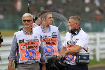World © Octane Photographic Ltd. Formula 1 – Japanese GP - Practice 2. Damon Hill and Paul deResta of Sky Sports F1s. Suzuka Circuit, Suzuka, Japan. Friday 11th October 2019.