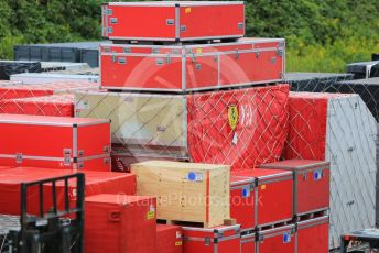 World © Octane Photographic Ltd. Formula 1 – Japanese GP - Practice 2. Scuderia Ferrari shipping containers. Suzuka Circuit, Suzuka, Japan. Friday 11th October 2019.