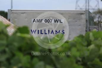 World © Octane Photographic Ltd. Formula 1 – Japanese GP - Practice 2. ROKiT Williams Racing shipping container. Suzuka Circuit, Suzuka, Japan. Friday 11th October 2019.