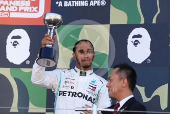 World © Octane Photographic Ltd. Formula 1 – Japanese GP - Podium. Mercedes AMG Petronas Motorsport AMG F1 W10 EQ Power+ - Lewis Hamilton. Suzuka Circuit, Suzuka, Japan. Sunday 13th October 2019.