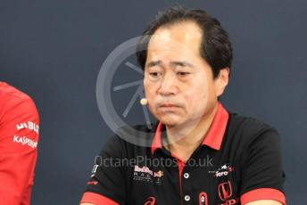 World © Octane Photographic Ltd. Formula 1 - Hungarian GP – Friday FIA Team Press Conference. Toyoharu Tanube - Honda Performance Development (HPD) Senior Manager. Suzuka Circuit, Suzuka, Japan. Friday 11th October 2019.