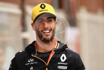 World © Octane Photographic Ltd. Formula 1 – Monaco GP. Paddock. Renault Sport F1 Team RS19 – Daniel Ricciardo. Monte-Carlo, Monaco. Wednesday 22nd May 2019.