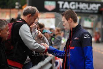 World © Octane Photographic Ltd. Formula 1 – Monaco GP. Track Walk. Scuderia Toro Rosso STR14 – Daniil Kvyat. Monte-Carlo, Monaco. Wednesday 22nd May 2019.