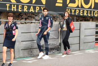 World © Octane Photographic Ltd. Formula 1 – Monaco GP. Track Walk. SportPesa Racing Point RP19 – Lance Stroll. Monte-Carlo, Monaco. Wednesday 22nd May 2019.