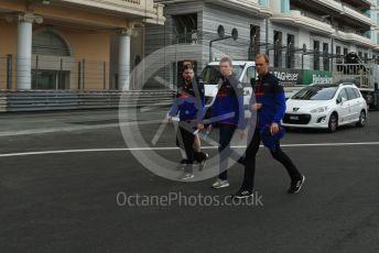 World © Octane Photographic Ltd. Formula 1 – Monaco GP. Track Walk. Scuderia Toro Rosso STR14 – Alexander Albon. Monte-Carlo, Monaco. Wednesday 22nd May 2019.