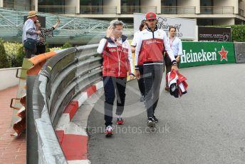 World © Octane Photographic Ltd. Formula 1 – Monaco GP. Track Walk. Alfa Romeo Racing C38 – Antonio Giovinazzi. Monte-Carlo, Monaco. Wednesday 22nd May 2019.