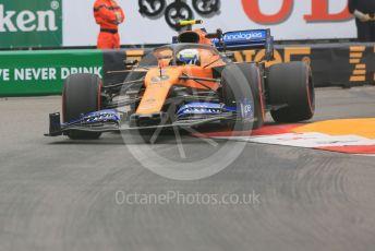 World © Octane Photographic Ltd. Formula 1 – Monaco GP. Practice 1. McLaren MCL34 – Lando Norris. Monte-Carlo, Monaco. Thursday 23rd May 2019.