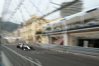 World © Octane Photographic Ltd. Formula 1 – Monaco GP. Practice 1. Alfa Romeo Racing C38 – Antonio Giovinazzi. Monte-Carlo, Monaco. Thursday 23rd May 2019.