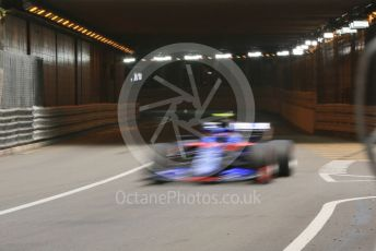 World © Octane Photographic Ltd. Formula 1 – Monaco GP. Practice 2. Scuderia Toro Rosso STR14 – Alexander Albon. Monte-Carlo, Monaco. Thursday 23rd May 2019.