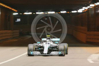 World © Octane Photographic Ltd. Formula 1 – Monaco GP. Practice 2. Mercedes AMG Petronas Motorsport AMG F1 W10 EQ Power+ - Valtteri Bottas. Monte-Carlo, Monaco. Thursday 23rd May 2019.
