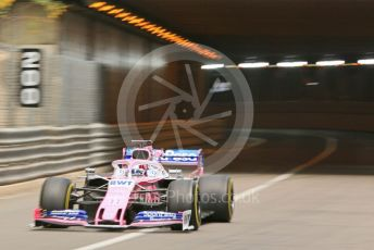 World © Octane Photographic Ltd. Formula 1 – Monaco GP. Practice 2. SportPesa Racing Point RP19 - Sergio Perez. Monte-Carlo, Monaco. Thursday 23rd May 2019.