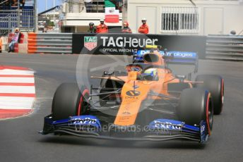 World © Octane Photographic Ltd. Formula 1 – Monaco GP. Practice 2. McLaren MCL34 – Lando Norris. Monte-Carlo, Monaco. Thursday 23rd May 2019.