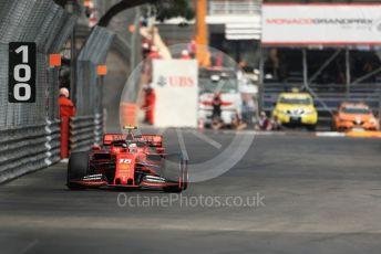 World © Octane Photographic Ltd. Formula 1 – Monaco GP. Practice 2. Scuderia Ferrari SF90 – Charles Leclerc. Monte-Carlo, Monaco. Thursday 23rd May 2019.