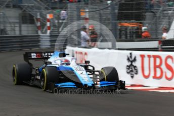 World © Octane Photographic Ltd. Formula 1 – Monaco GP. Practice 2. ROKiT Williams Racing FW 42 – George Russell. Monte-Carlo, Monaco. Thursday 23rd May 2019.