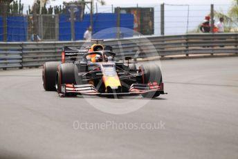 World © Octane Photographic Ltd. Formula 1 – Monaco GP. Practice 3. Aston Martin Red Bull Racing RB15 – Max Verstappen. Monte-Carlo, Monaco. Saturday 25th May 2019.