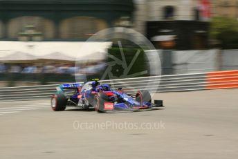 World © Octane Photographic Ltd. Formula 1 – Monaco GP. Practice 3. Scuderia Toro Rosso STR14 – Alexander Albon. Monte-Carlo, Monaco. Saturday 25th May 2019.