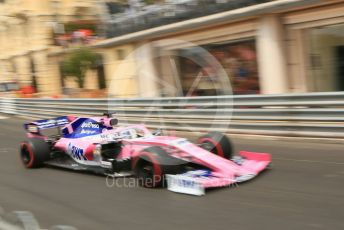 World © Octane Photographic Ltd. Formula 1 – Monaco GP. Practice 3. SportPesa Racing Point RP19 - Sergio Perez. Monte-Carlo, Monaco. Saturday 25th May 2019.