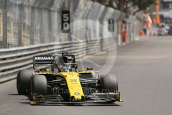 World © Octane Photographic Ltd. Formula 1 – Monaco GP. Practice 3. Renault Sport F1 Team RS19 – Daniel Ricciardo. Monte-Carlo, Monaco. Saturday 25th May 2019.