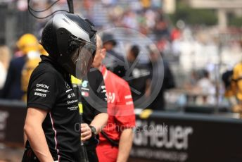 World © Octane Photographic Ltd. Formula 1 – Monaco GP. Practice 3. Mercedes AMG Petronas Motorsport AMG F1 W10 EQ Power+ mechanic. Monte-Carlo, Monaco. Saturday 25th May 2019.