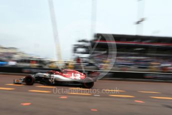 World © Octane Photographic Ltd. Formula 1 – Monaco GP. Practice 3. Alfa Romeo Racing C38 – Kimi Raikkonen. Monte-Carlo, Monaco. Saturday 25th May 2019.